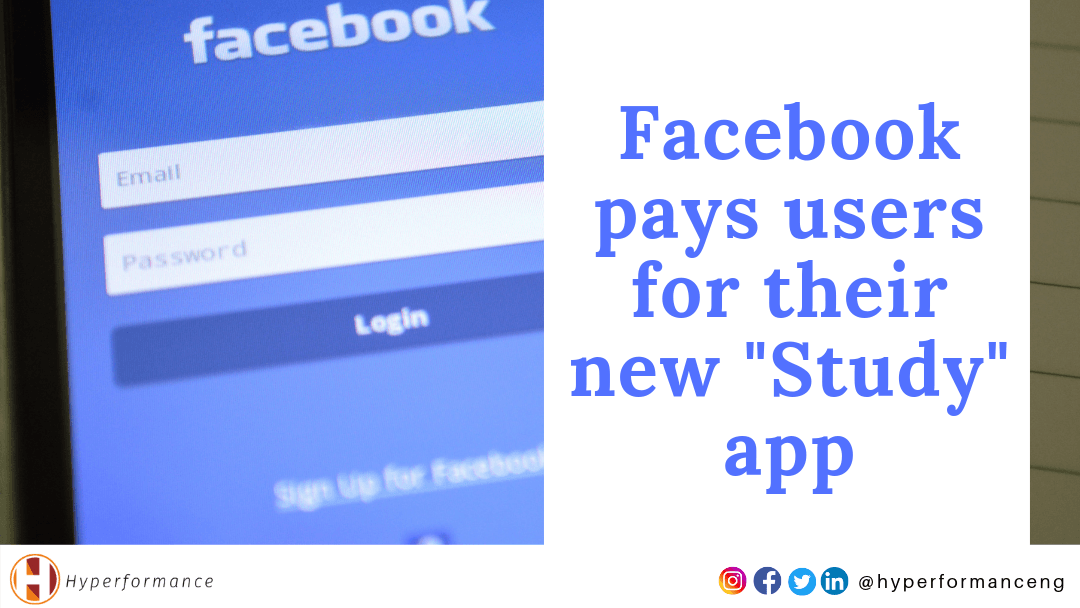 Facebook pays users for their new Study app