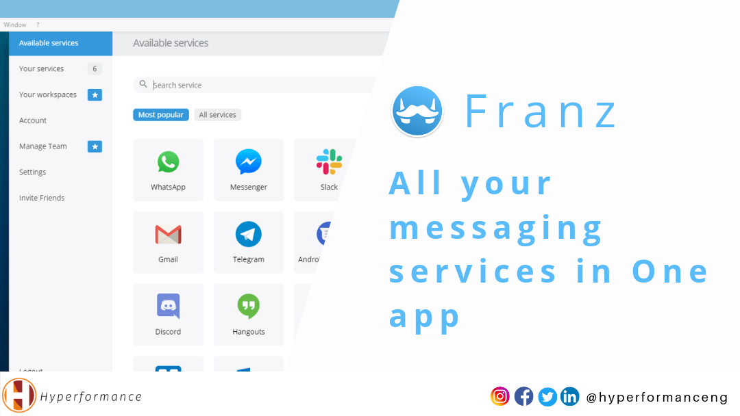 Franz: All your messaging services in One app