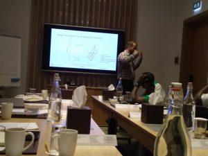 Tilman Lindberg training participants during Hyperformance Innovation and Design Thinking Dubai 2019